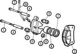 12.4 Тормозные накладки дисковых тормозов (передних и задних) - замена
