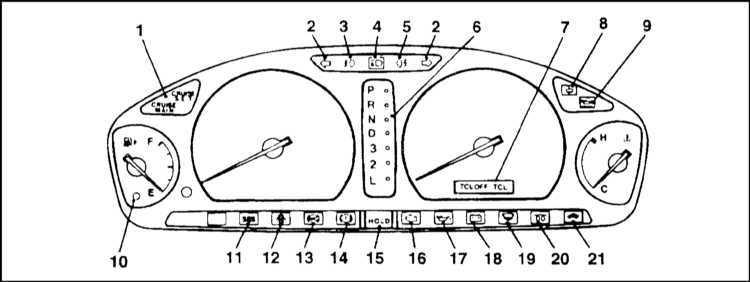 схема щитка приборов митсубиси галант 1995г