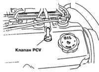 8.2 Система управляемой вентиляции картера (PCV) - общая информация,   проверка состояния и замена компонентов Mitsubishi Galant