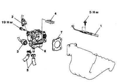 6.3 Снятие и установка корпуса дросселя