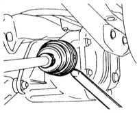 10.18 Снятие и установка задних полуосей (модели AWD Galant по 1993   г. вып.)