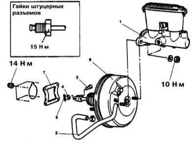 11.3 Снятие и установка ГТЦ