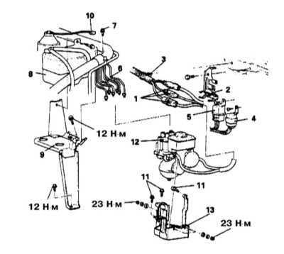 11.25 Снятие и установка гидравлического модулятора