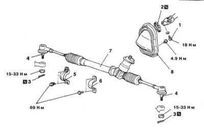 12.25 Снятие и установка рулевого механизма с ручным приводом