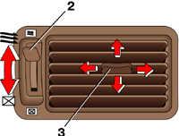 1.28 Регулировка объема и направления воздуха Mitsubishi Pajero