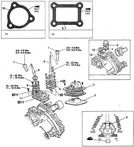 9.1.3 Рычаг переключения передач (а/м 4х4)
