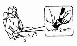 3.13.3 Применение ремней безопасности Nissan Almera