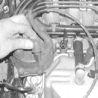 3.23 Проверка состояния и замена ВВ свечных проводов, крышки и бегунка распределителя