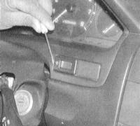14.9 Проверка исправности функционирования и замена выключателей панели приборов