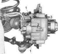 11.3  Обслуживание передних дисковых тормозных механизмов