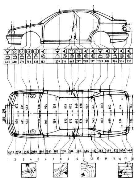 14.1 Контрольные кузовные размеры