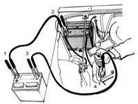 1.7 Запуск двигателя от вспомогательного источника питания