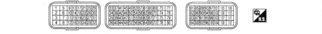 5.4 расположение контактов в разъеме блока есм