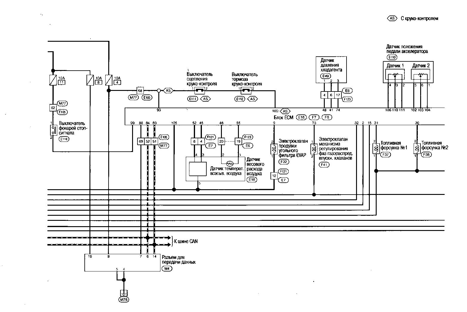 5.6 Схема электрических соединений - система управления двигателем Nissan Qashqai