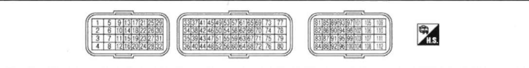 5.11.1 расположение контактов в разъеме блока ЕСМ