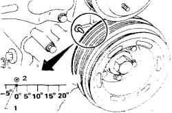 3.3 Порядок установки поршня 1-го цилиндра в ВМТ такта сжатия.