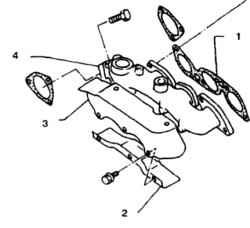 4.7 Всасывающий коллектор -снятие и установка Nissan Terrano II