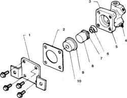 12.5 Рабочий цилиндр сцепления -снятие, разборка и установка Nissan Terrano II