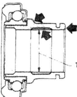 12.9 Выжимной подшипник - замена Nissan Terrano II