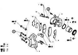14.4 Суппорт тормоза - снятие, разборка и установка