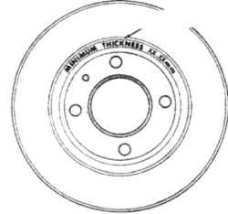 14.5 Диск тормоза - проверка, снятие и установка Nissan Terrano II