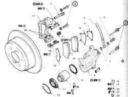 14.9 Диски задних тормозов - проверка, снятие и установка