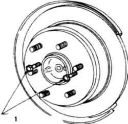 14.9 Диски задних тормозов - проверка, снятие и установка Nissan Terrano II