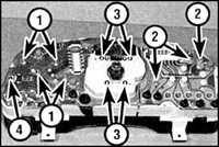 13.22 Элементы приборного щитка