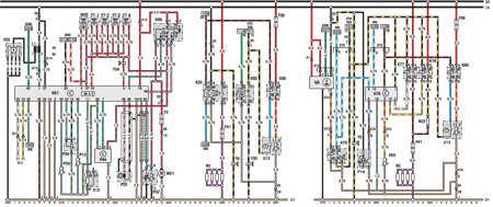 14.14 Электросхема Opel Astra – модели выпуска с марта 1992   г. (часть 4)