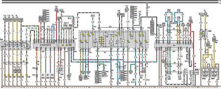 14.15 Электросхема Opel Astra – модели выпуска с марта 1992   г. (часть 5)