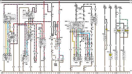 14.18 Электросхема Opel Astra – модели выпуска с марта 1992   г. (часть 8)