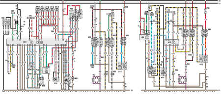 14.5 Электросхема Opel Astra – модели выпуска до февраля 1992   г. (часть 4)
