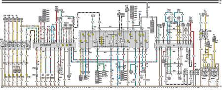 14.6 Электросхема Opel Astra – модели выпуска до февраля 1992   г. (часть 5)
