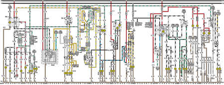 14.7 Электросхема Opel Astra – модели выпуска до февраля 1992   г. (часть 6)