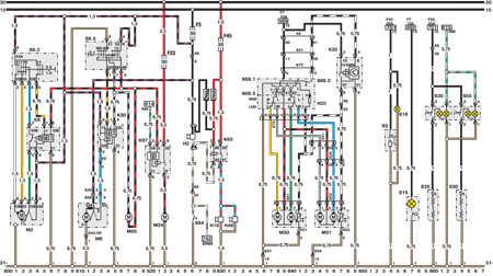 14.9 Электросхема Opel Astra – модели выпуска до февраля 1992   г. (часть 8)