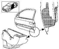 13.16 Снятие, установка и регулировка дверей Opel Astra