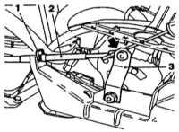 9.3 Снятие и установка троса выбора передач