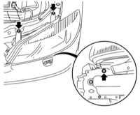 14.8 Снятие и установка наружных осветительных/сигнальных приборов