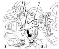 11.6 Замена колодок дисковых тормозных механизмов задних колес