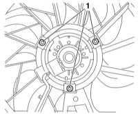 5.3.5 Проверка исправности функционирования, снятие и установка вентилятора   системы охлаждения Opel Astra