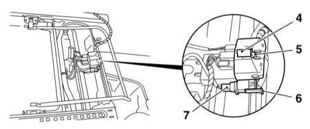 13.42 Снятие и установка передних сидений