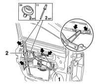 13.22 Снятие и установка дверных стекол Opel Astra