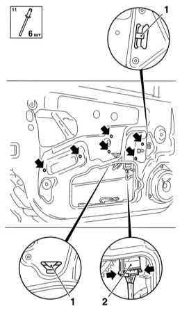 13.23 Снятие и установка регулятора стеклоподъемника