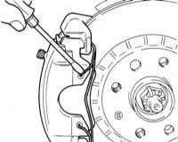 11.5 Замена колодок дисковых тормозных механизмов передних колес