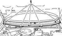 13.12 Снятие и установка панели обтекателя ветрового стекла