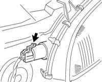 14.13 Замена ламп накаливания в фарах, парковочных огнях и передних указателях поворота модели Tigra