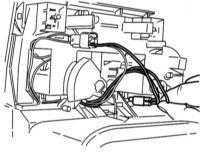 14.22 Замена лампы подсветки панели блока управления отоплением