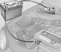 1.6 Запуск двигателя от вспомогательного источника питания