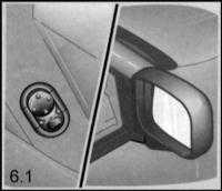 14.6 Регулировка положения зеркал заднего вида, дверных стекол и верхнего люка