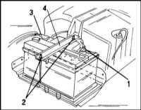 2.12 Проверка состояния батареи,  уход за ней и зарядка Opel Frontera